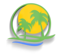 Coastal hauling palm tree logo