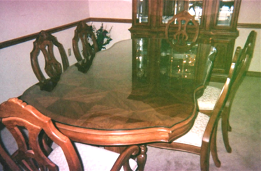 Photo of custom glass table topper made by our glass companay