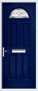 4 Panel 1 Arch Composite Door regal sapphire glass