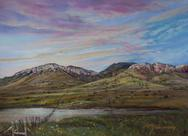 A Very Good Year, pastel landscape by Lindy C Severns, Fort Davis TX