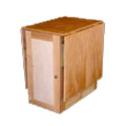 Birch sewing cabinet with flip up sides
