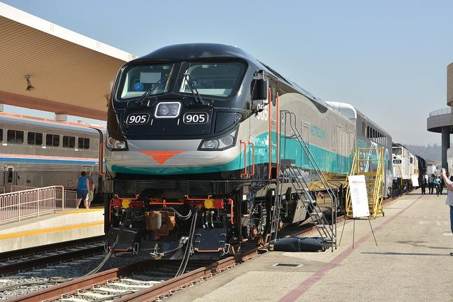 SCAX 905, the first EMD F125 delivered to Metrolink, unveiled at Los Angeles Union Station, July 18, 2016.
