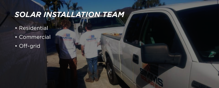 Solar Installation Team - Residential, Commercial, and Off-grid.