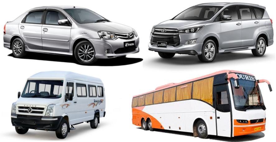 sedan- suv- tempo traveller- bus- service in delhi