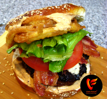 Floribbean Cajun Surprise Pretzel Burger-Chef of the Future-Your Source for Quality Seasoning Rubs