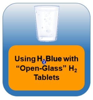 Using H2Blue with open cup H2 tablets