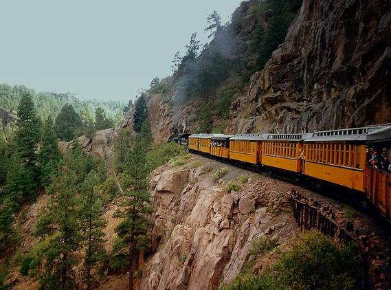 On the Durango and Silverton, May 1995.