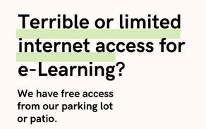 Free WiFi from our parking lot