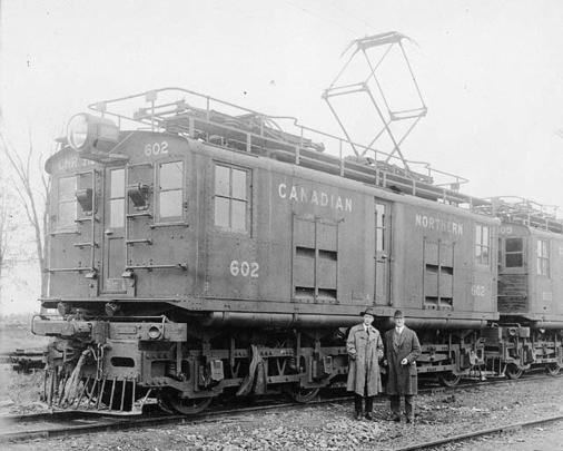 Canadian Northern Railway electric locomotive no. 602 used in Mount Royal Tunnel and later became Canadian National Railways engine no. 9102.