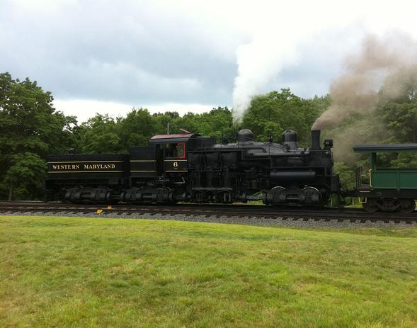 Western Maryland Shay No. 6 on the Cass Scenic Railroad at Whittaker Station.