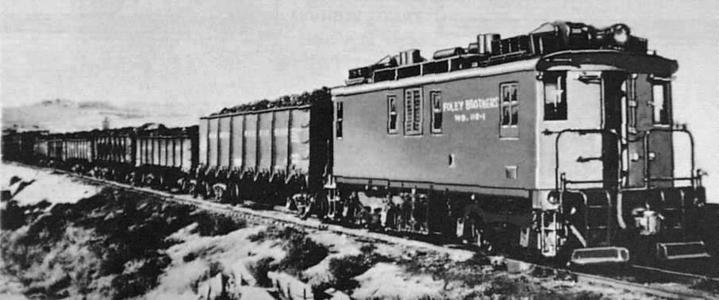 Foley Brothers GE-Ingersoll Rand 110-ton diesel-electric locomotive with road number 110-1.