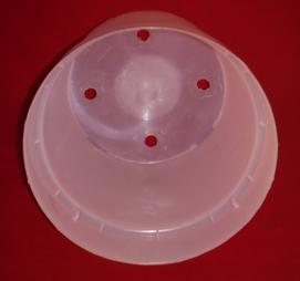 clear plastic orchid pot 8.5 inch round holes UV McConkey