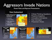 WWII Aggressors Invade Nations PowerPoint