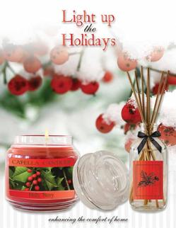 Light up the Holidays Candle Fundraiser Brochure
