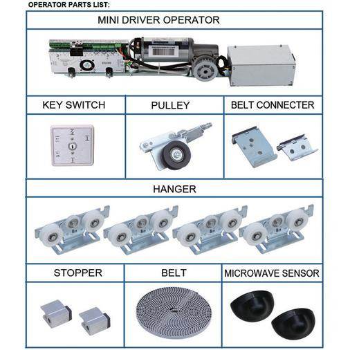 motorized swing door kit