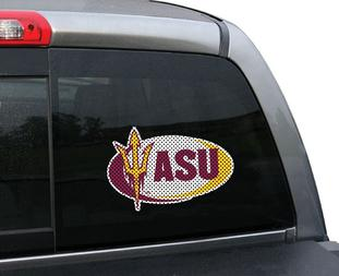Arizona State University Perforated Window Film Swoosh