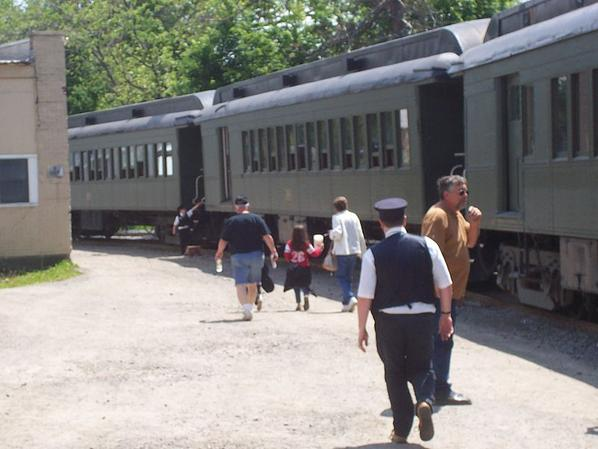 Passenger cars used on the Arcade and Attica Railroad steam locomotive excursion.