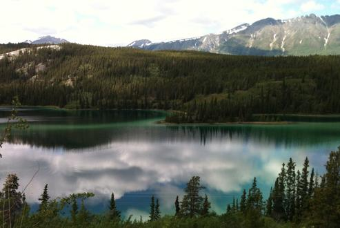 Emerald Lake in Yukon, is available in a 7 hour private tour, from Skagway Alaska, offered by Beyond Skagway Tours