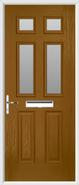 2 Panel 4 Square Composite Door obscure glass