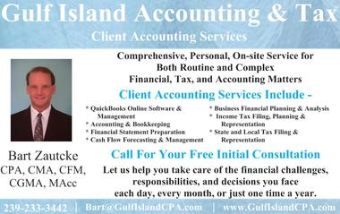 Postcard Image: Sanibel Florida - Gulf Island Accounting & Tax - Client Accounting Services - QuickBooks Online Software & Management, Acconuting and Bookkeeping, Financial Statement Preparation, Cash Flow Forecasting and Management, Business Financial Plannng and Analysis, Income Tax Filing and Planning and Representation, State and local tax filing and representation