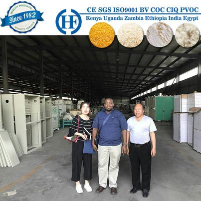 Africa customer inspection 30ton maize milling machine in China factory