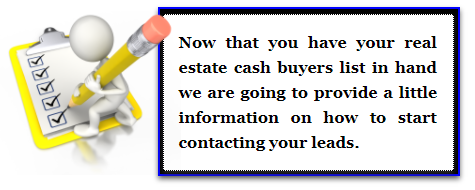 How To Contact Real Estate Cash Buyers