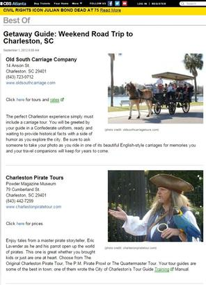 Pirates of Charleston and CBS
