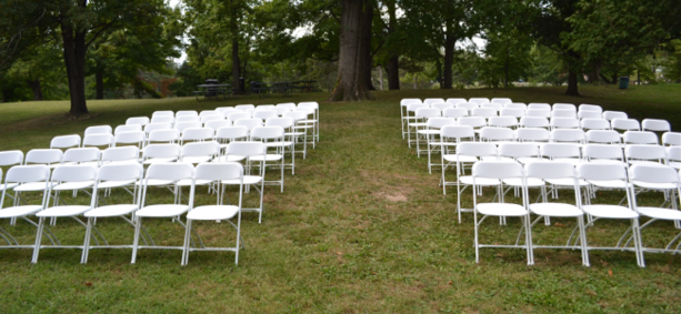 outdoor wedding hahn rentals