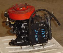 Used shortblock for a 1967 20 hp Mercury outboard motor.