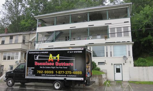 Seamless gutter in Augusta, Maine