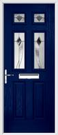 2 Panel 4 Square Composite Door monza glass