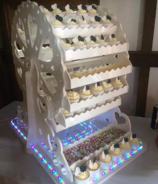 large ferris wheel sweet dreams candy cart