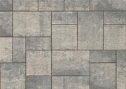 Unilock Concrete Engineered Paver Beacon Hill Smooth Flagstone in Steel Mountain Color