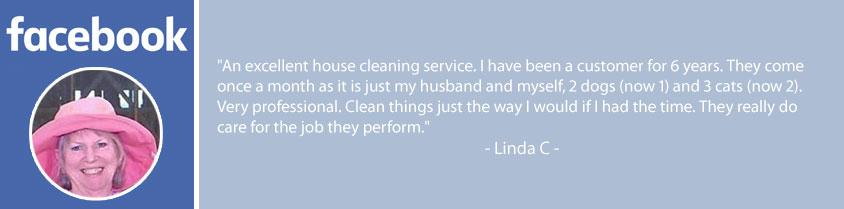 Facebook review of Always Ready Cleaning. An excellent house cleaning service.