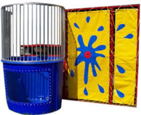 this is 500 gallons Commercial Dunk tank for any Carnival event grand openings school events church events and prive