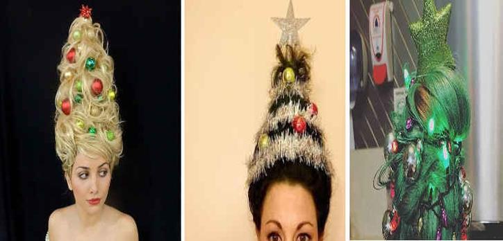 The Christmas Tree Hair Trend Is Back