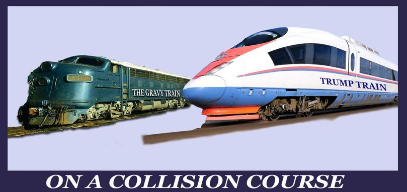The Trump Train and the so-called conservative gravy train are in collision.