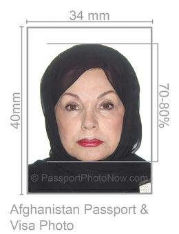 Afghanistan Passport and Visa Photo