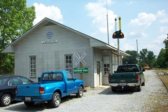 Chattooga & Chickamauga yard office at Holiman Yard in LaFayette, Georgia.