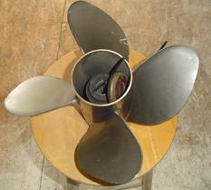 Used Mercury 26 pitch 4 blade stainless steel propeller