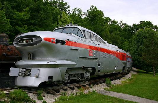 Rock Island Aerotrain at St. Louis. St. Louis Museum of Transportation.