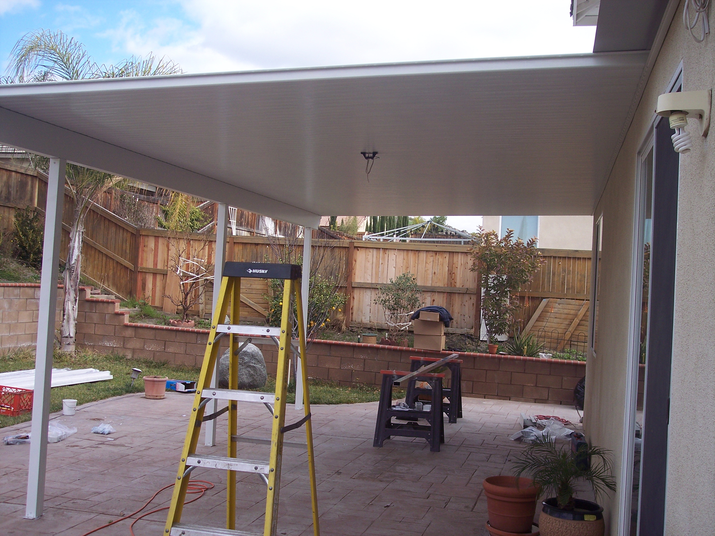 Aluminum patio cover start to finish diy gutters n covers solutioingenieria Choice Image