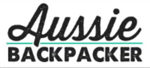 text logo link to website aussie backpacker