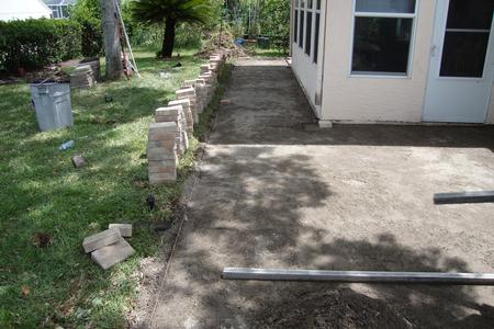 Final Grade for Brick Paver Patio