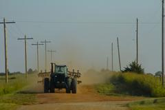 Tractor in Northwest Oklahoma