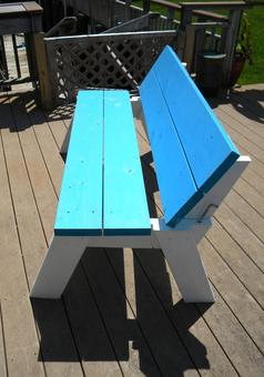 How to make a convertible picnic table that folds into ...