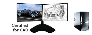 NTI Dual Display CAD Computer