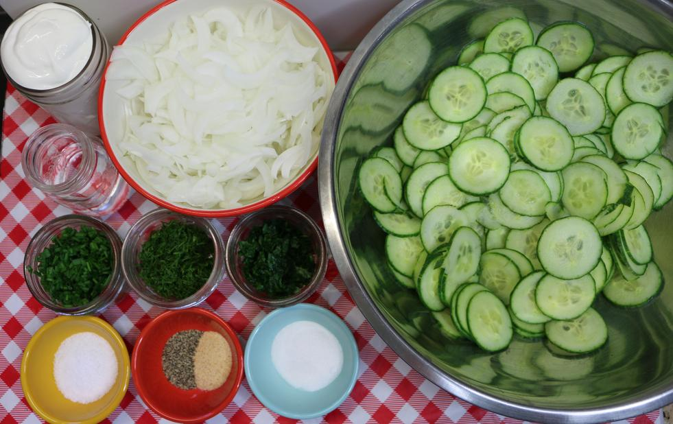 Creamy Hungarian Cucumber Salad Recipe, Noreen's Kitchen