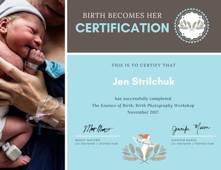 Jennifer Strilchuk certified Birth Photographer in Abbotsford, Mission, Chilliwack and Langley BC