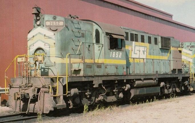 Postcard photo of LS&I Alco RSD12 No. 1852 in 1982. CSA Collection.